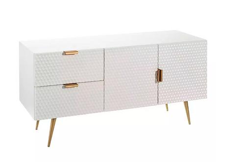Mueble TV blanco/oro 120 X 45 X 59,50 CM