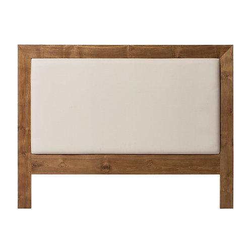 Cabecero madera de teka y lino varias medidas
