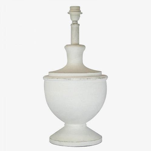 Lámpara copona madera blanca 23x23x52 cm