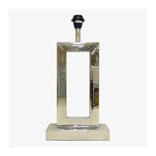 Lámpara U muy alta y plana tubo rectangular plateada 50 cm