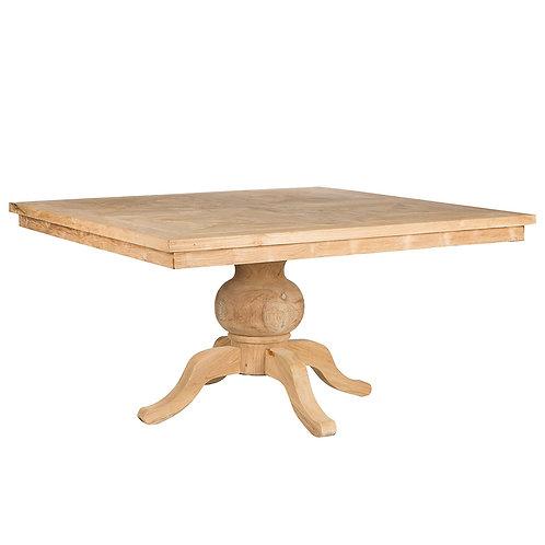 Mesa de comedor de madera de teka 151 x 151 x 80 cm