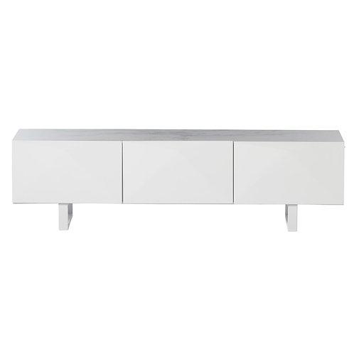 Mueble TV blanco laca mate 180 x 49,5 x 44 cm