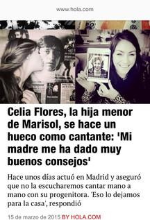 Presentación de la cantante Celia Flores, hija de Marisol, en Madrid.