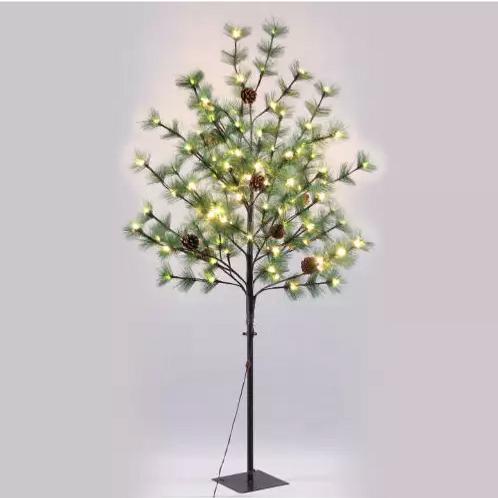 Árbol 96 luces LED cálido metal-plástico 150 cm