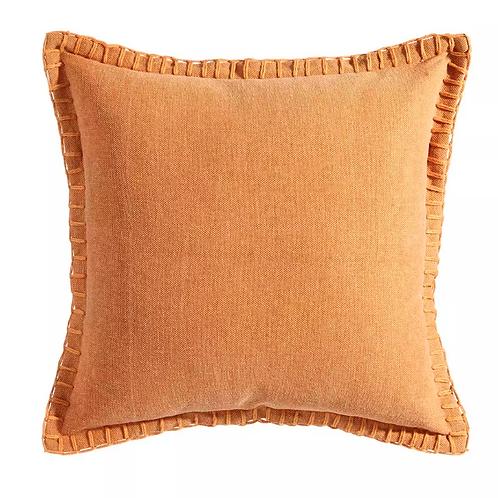 Cojín Mostaza algodón 45x45