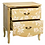 Thumbnail: Mesilla de noche/cómoda flores beige 75 x 40,50 x 78 cm