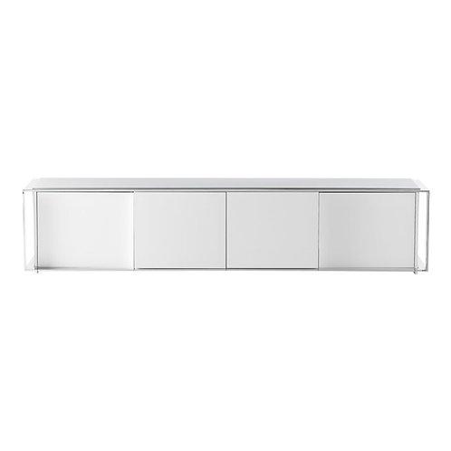 Mueble TV blanco 220 x 48 x 48 cm