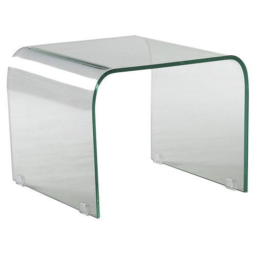Mesa auxiliar transparente 50 x 50 x 40 cm