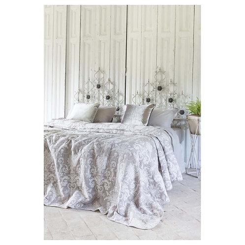 Colcha para cama de matrimonio color topo 260 x 260 cm