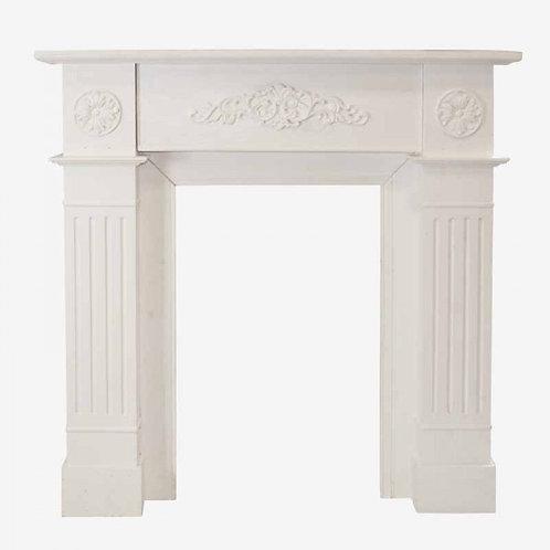 Frente de Chimenea en madera rústica Blanca o Topo 100 X 19 X 100 CM