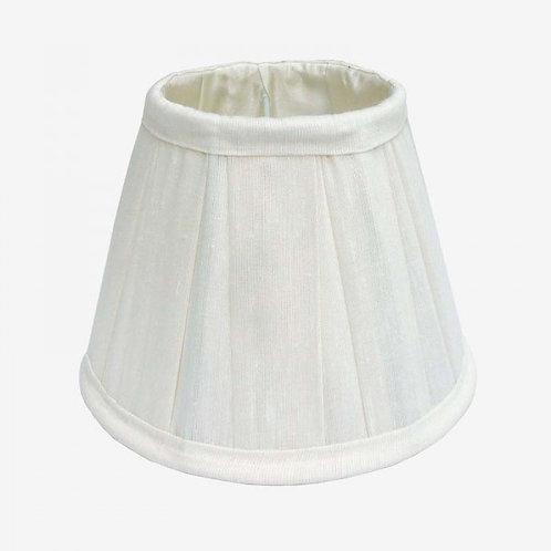 Pantalla de seda tabla ancha 20 cm blanco