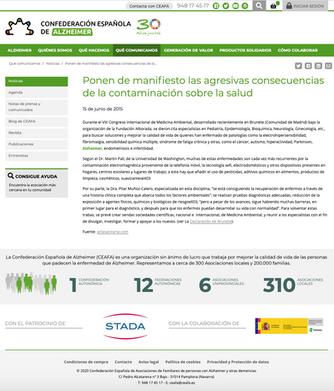 Confederación Española de Alzheimer. Jun. 2015