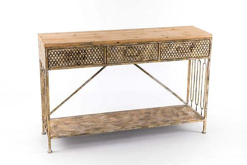 Consola oro viejo/madera 120*33*78cm