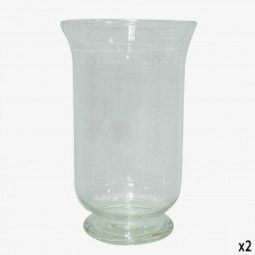 Portavelas florero cristal 30 cm