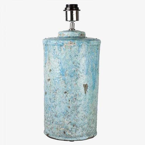Lámpara terracota craquelado azul claro 43 cm