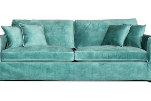Sofá de terciopelo 2 colores 230 x 110 x 65 cm