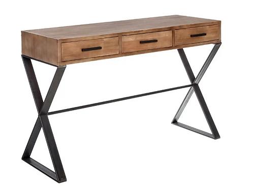 Consola madera/hierro gris 120 x 41,50 x 80 CM