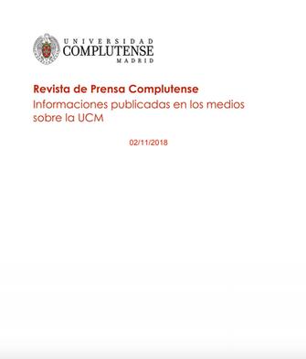 Revista de la Universidad Complutense de Madrid. Nov. 2018