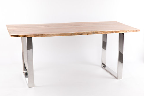 Mesa de comedor acacia/acero 180*90*76cm