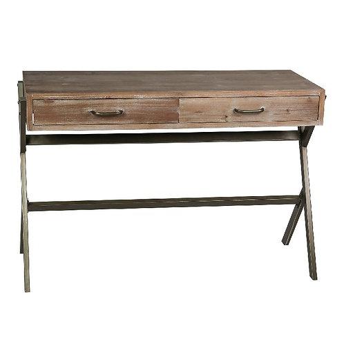 Mesa de despacho/escritorio madera/metal 110 x 49 x 75 cm