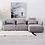 Thumbnail: Sofá con chaise longue 285 x 163 x 84 cm gris