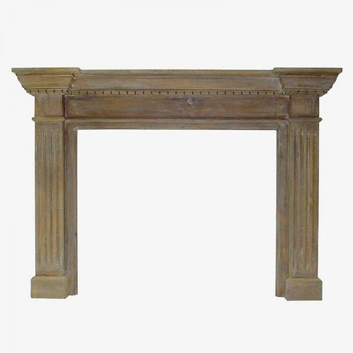 Frente de Chimenea en madera natural 141x15x100 cm