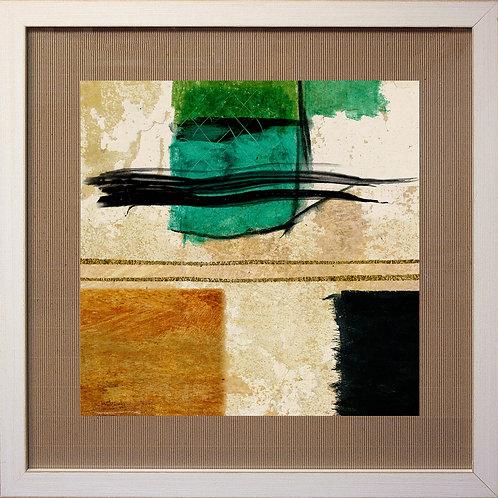 Serie 2 Cuadros Chutznah verde 73x73 cm