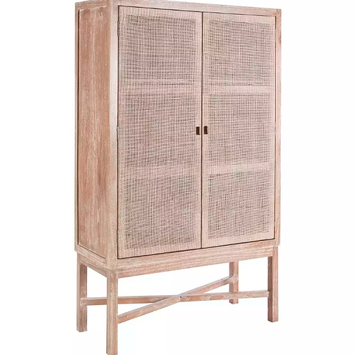 Aparador/armario ratán lavado 100 x 40 x 165 cm