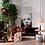 Thumbnail: Sofá 3 plazas de Teka y piel negro 180 x 100 x 68 CM