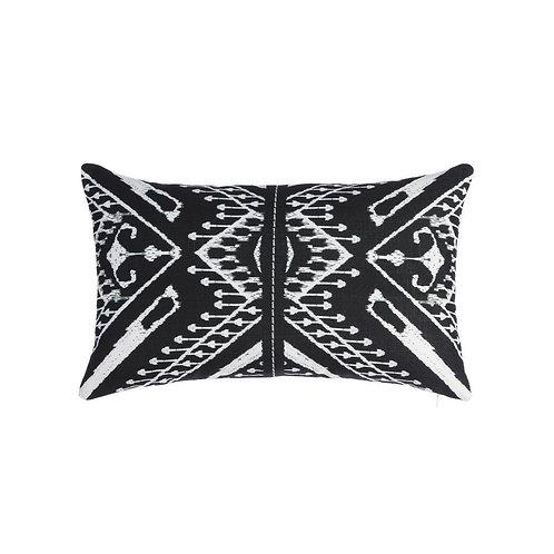 Cojín geométricos blanco y negro