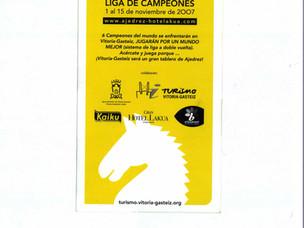 Campeonato mundial de Ajedrez. Vitoria Gasteiz. Nov. 2007