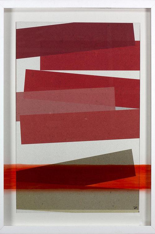 Serie 2 cuadros Cristal rojo 100x70
