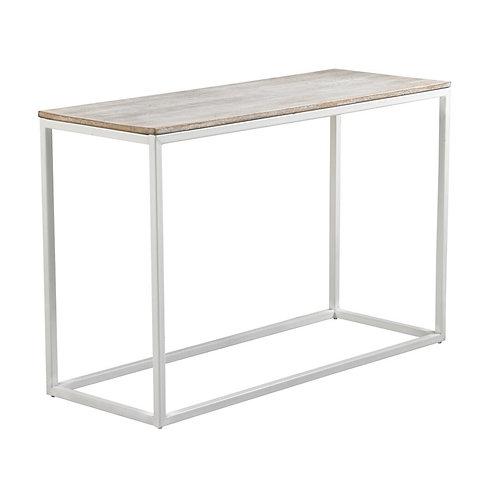Consola madera mango/hierro blanco 120 x 45 x 79 cm