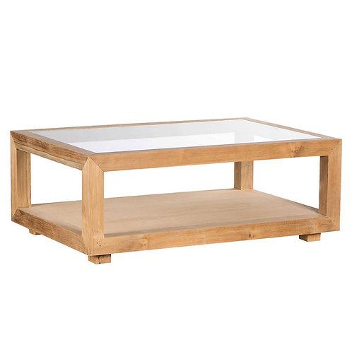 Mesa de centro madera/cristal varios tamaños