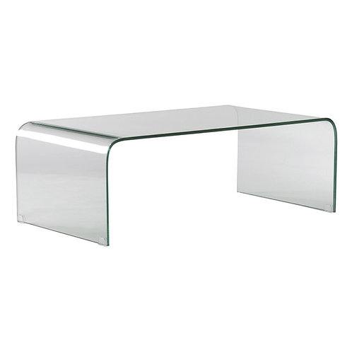 Mesa de centro transparente 110 x 60 x 38