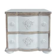 Mesilla de noche madera lavada blanco o gris 48x39x48 cm