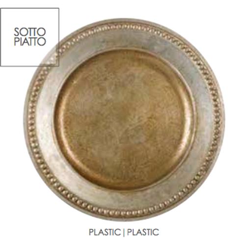 Set de 6 Bajo Platos de plástico tres modelos