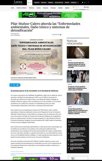 Lanza. Diario de la Mancha. Nov. 2018