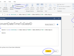 DateID compare to DateTime in Power Query for Incremental Refresh