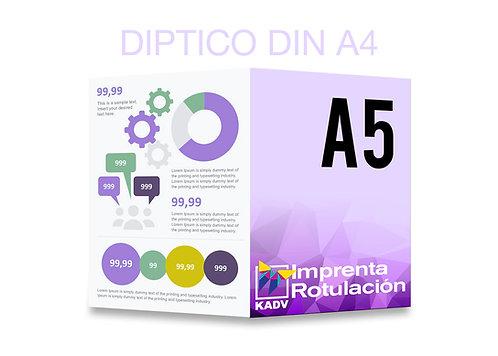Díptico DIN A5 (A4 abierto)