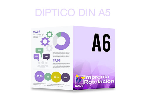 Díptico DIN A6 (A5 abierto)