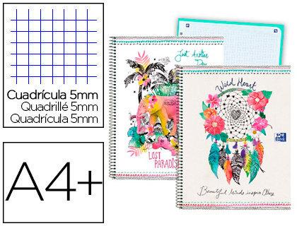 OXFORD Cuaderno espiral oxford europeanbook tapa extradura din a4+ 80 hojas