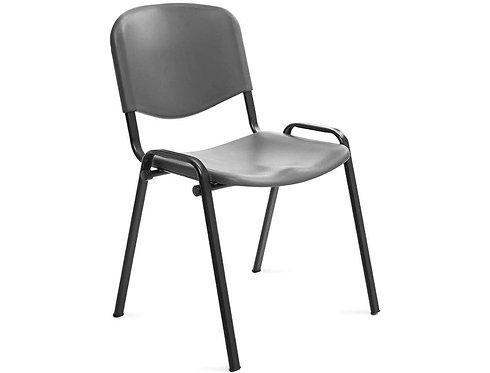 Silla rocada confidente estructura metalica respaldo y asiento en polimero color