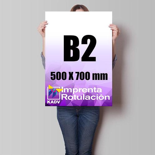 Poster 50x70 cms (B2), 30 unds.