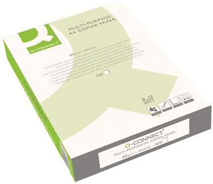 5 paq. Papel fotocopiadora q-connect din a4 80 gramos , total 2500 hojas.