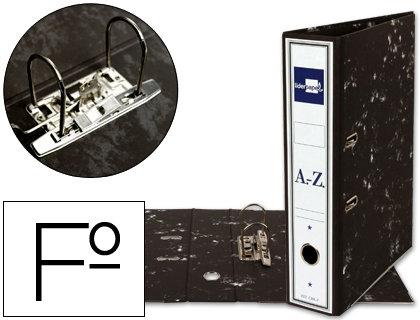 Archivador de palanca liderpapel folio classic black carton entrecolado con rado