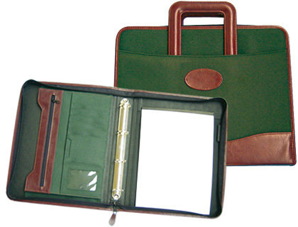 Cartera portadocumentos 35-921 verde/marron