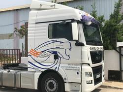 Rotulación cabina camión