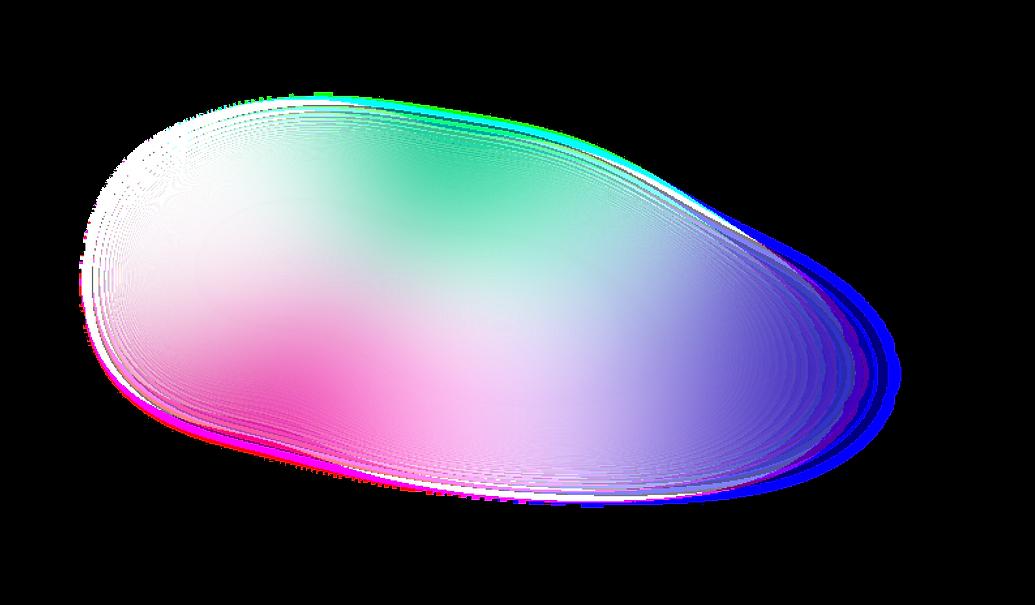 gradient mesh rainbow under girl who is