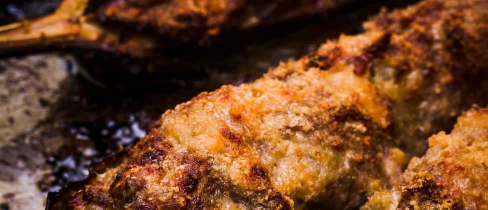Albergínies farcides de carn